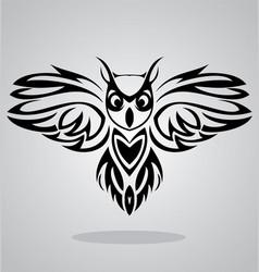 Owl Bird Tribal vector image vector image