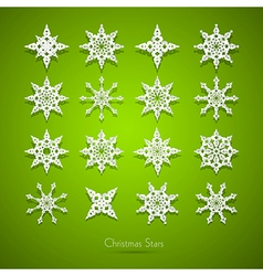 Paper Snowflakes Set vector image
