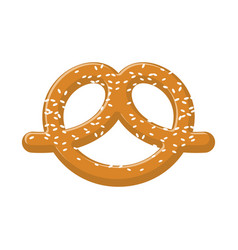 Pretzel with sesame seeds isolated german vector