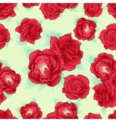 Red rose seamless pattern outline vector