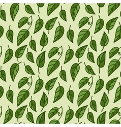 Seamless foliage pattern vector image
