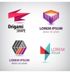 set of abstract colorful logos company vector image vector image