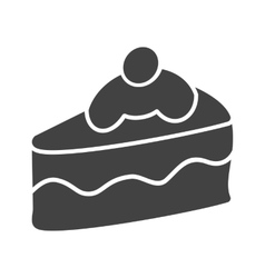 Slice of Cake I vector image vector image