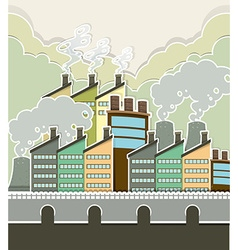 Smoke coming out of factory vector image vector image
