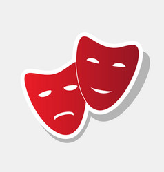 Theater icon with happy and sad masks new vector