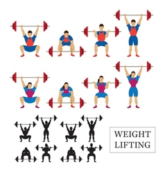 Weightlifting Athlete Men and Women vector image vector image
