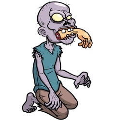 Zombies cartoon vector image