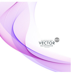 abstract purple wave background design vector image