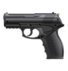Powerful pistol gun handgun vector