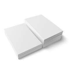 Two different stacks of blank business card vector