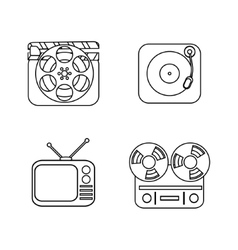 Set of line icons vector