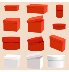 Set of empty boxes vector