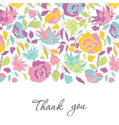 Card with doodle flowers vector