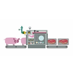 Apparatus for cooking cuts of meat steak machine vector