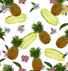 Pineapple pattern design vector