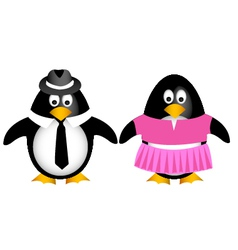 Penguin family with child vector