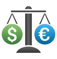 Euro dollar weight gradient icon vector