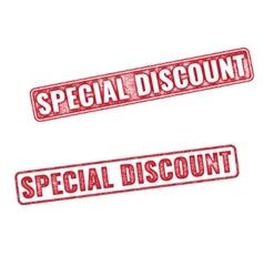 Stamps Special Discount textured imprints vector image