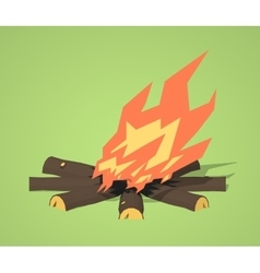 Low poly campfire vector