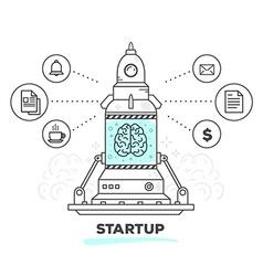 Creative professional mechanism of startu vector