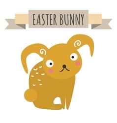 Easter bunny cute style vector