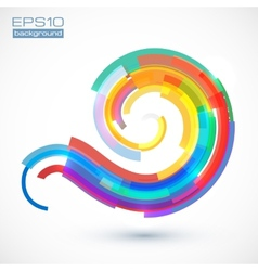 Abstract colorful curve vector image