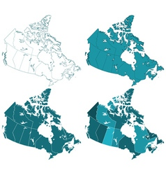 Canada maps vector image