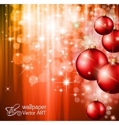 christmas backgound vector image vector image
