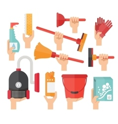 Cleaning service supplies vector