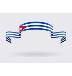 Cuban flag background vector