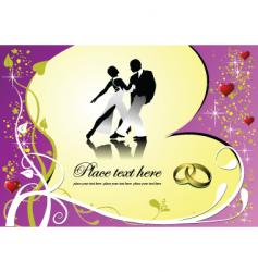 dance and heart vector image
