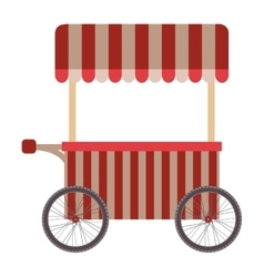 food cart icon vector image vector image