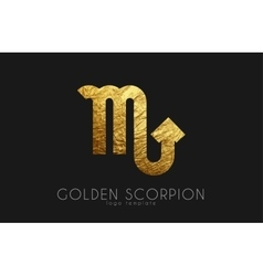 Golden scorpion golden zodiac sign scorpion vector