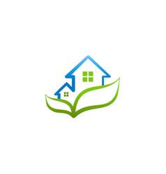 green house garden ecology logo vector image