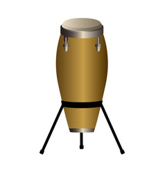 Isolated conga drum musical instrument vector