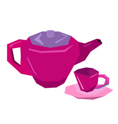 isolated tea toys vector image vector image
