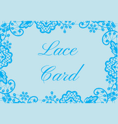 lace border card vector image