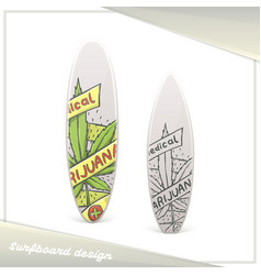Medical marijuana surfboard eight vector