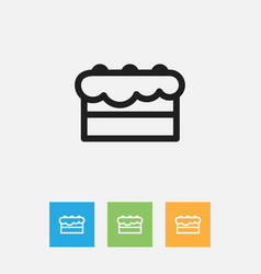 Of food symbol on pastry vector
