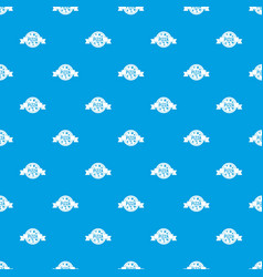 pizza label with ribbon pattern seamless blue vector image vector image