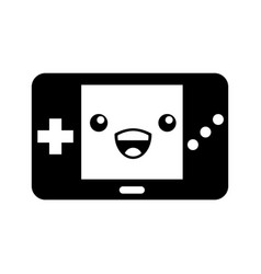 Portable video game console kawaii character vector