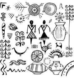 Slavic ethnic elements vector