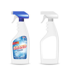 spray pistol cleaner plastic bottle with detergent vector image vector image