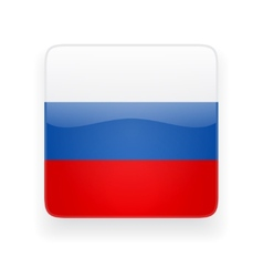 Square icon with flag of Russia vector image vector image