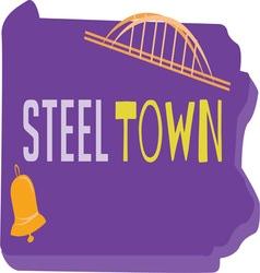 Steel town vector