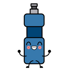 water thermo bottle cute kawaii cartoon cute vector image vector image