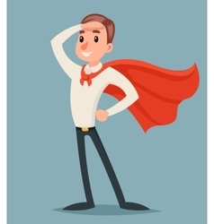 Brave hero ready for action businessman character vector