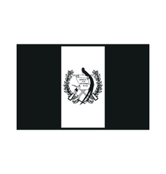 Flag of guatemala monochrome on white background vector