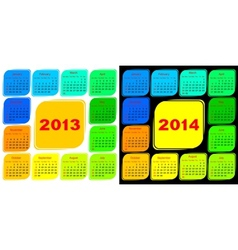 Multicolored template of a calendar vector image