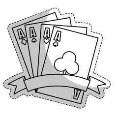 Gambling game design vector